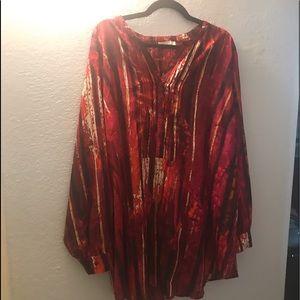 Calvin Klein tunic blouse size 3X